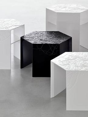 Exagon tavolini design Alessio Bassan