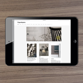Sito web Capo d'opera design Alessio Bassan