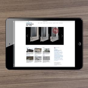 Sito web Carretta Serramenti design Alessio Bassan