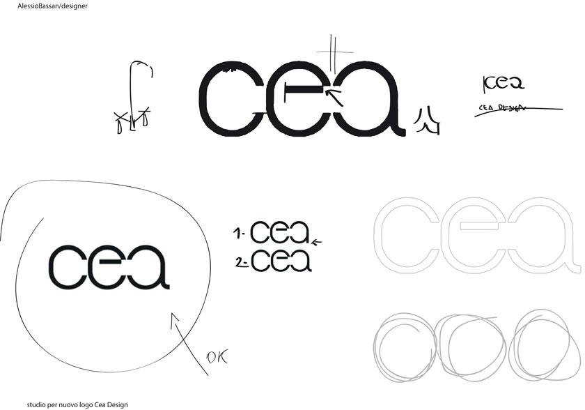 Logo Cea e immagine coordinata design Alessio Bassan